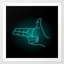 Finger Guns Art Print