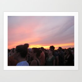 love like a sunset Art Print