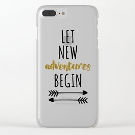 New Adventures Travel Quote Clear iPhone Case