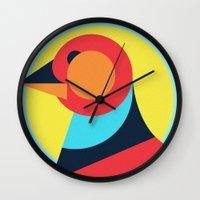 pagan Wall Clocks featuring Pagan animals - Bird by Atelier FP7