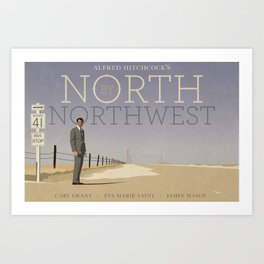 North by Northwest tribute poster Art Print