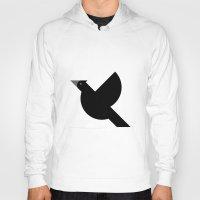 crow Hoodies featuring Crow by GA Studio