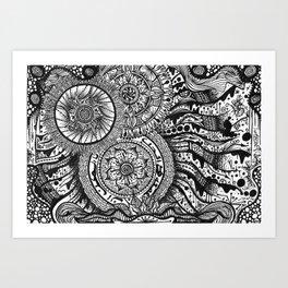 Henna flow Art Print