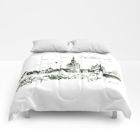 Medieval landscape. Comforters