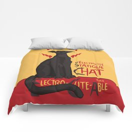 d'Electricité Statique Chat [Staticat] Comforters