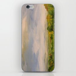 Scenic Autumn Late Afternoon in Vermont Nature Art Landscape Oil Painting iPhone Skin