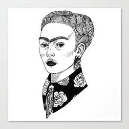 La Sombra de Frida Canvas Print