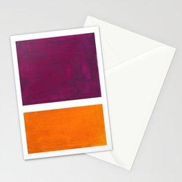 Purple Wine Yellow OchreMid Century Modern Abstract Minimalist Rothko Color Field Squares Stationery Cards