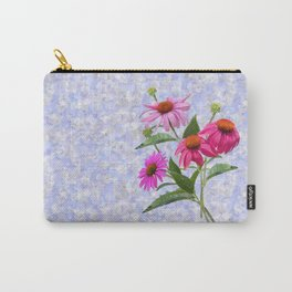 Echinacea Bouquet on Blue Carry-All Pouch