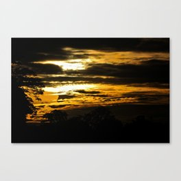 Sunset on the Kinabatangan Canvas Print