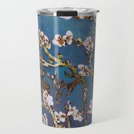 Vincent van Gogh Pink Blossoming Almond Tree (Almond Blossoms) Travel Mug