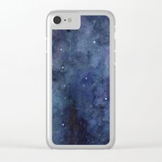 Night Sky Stars Galaxy | Watercolor Clear iPhone Case