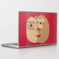 sloths Laptop & iPad Skins featuring Sloth love by Maria Jose Da Luz
