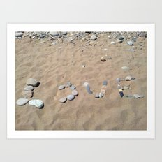 LOVE at the beach Art Print