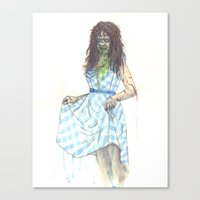 three of the possessed Canvas Prints featuring Regan (Possessed) by Monsters in Plaid