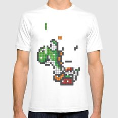 Yoshi Tetris Mens Fitted Tee White MEDIUM