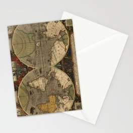 Vintage Map of The World (1595) Stationery Cards