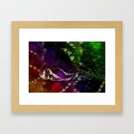 Interstellar Snake Framed Art Print