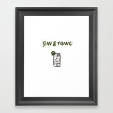 Gin & Tonic Framed Art Print