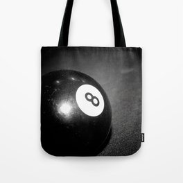 Eight Ball-Black Tote Bag