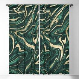 Emerald Green Black Gold Marble #1 #decor #art #society6 Blackout Curtain