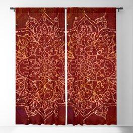 Rust Red Mandala Blackout Curtain
