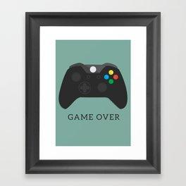 Game Over, Xbox Framed Art Print