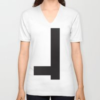 vector V-neck T-shirts featuring vector by vogel