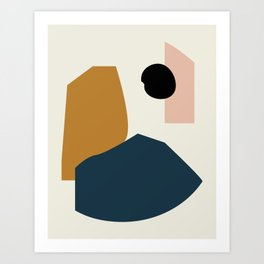 Shape study #1 - Lola Collection Art Print