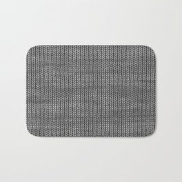 Antiallergenic Hand Knitted Grey Wool Pattern - Mix&Match with Simplicty of life Bath Mat