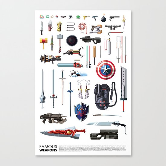 Famous Weapons Canvas Print