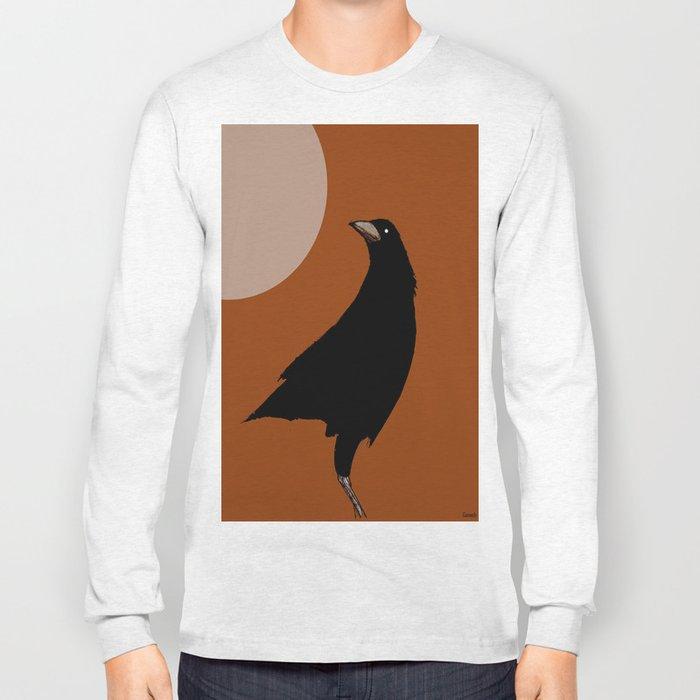 The crow of the setting sun Long Sleeve T-shirt