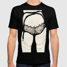 Leg Sketch Seven SMALL Black Mens Fitted Tee