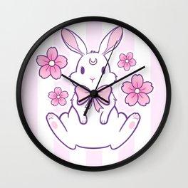 Sakura Bunny 02 Wall Clock