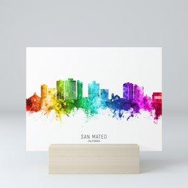 San Mateo California Skyline Mini Art Print