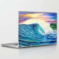 indonesia Laptop & iPad Skins featuring  Surf Art  Indonesia by Surf Art Gabriel Picillo