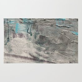 Wait // acrylic abstract texture modern painting Rug