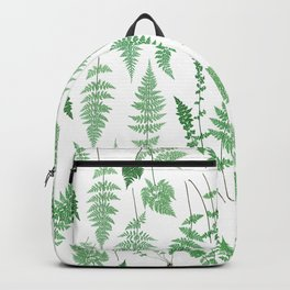 Ferns on White I - Botanical Print Backpack