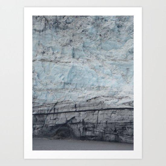 Glacier Close Up Art Print