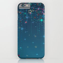 Magic fairy abstract shiny background with stars iPhone Case