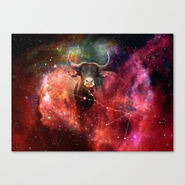 La constellation du Taureau Canvas Print