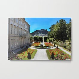 Mirabell Palace and Gardens Metal Print