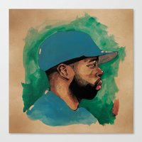j dilla Canvas Prints featuring Dilla Illustration by Jeremy Okai Davis