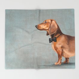 Elegant dachshund. Throw Blanket