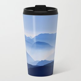 Blue Corno Nero mountain silhouettes in Italy Travel Mug