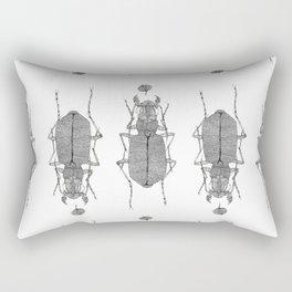 Black and white tiger beetle Rectangular Pillow