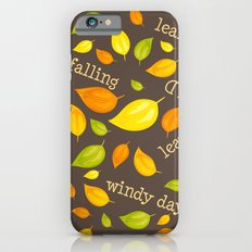 Fall Leaves Pattern iPhone 6s Slim Case