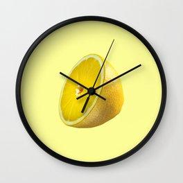 Pastel Lemon Wall Clock