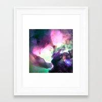 nebula Framed Art Prints featuring Pastel nebULa by 2sweet4words Designs