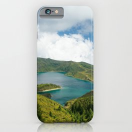 Crater lake in Azores iPhone Case